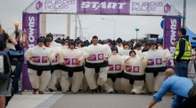 Feeling Japanese: sumo suit runners invade Bray