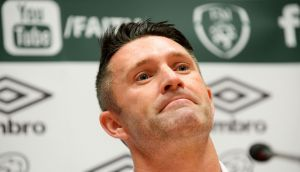 Robbie Keane during a press conference at the National Sports Campus in Abbotstown on Monday. Photograph:  Caroline Quinn/PA Wire