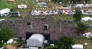 Stradbally fields forever: an aerial view of the Electric Picnic. Photograph: Sky Tec Ireland
