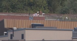 Residents of the Oberstown Children Detention Campus, Dublin,  climbed  onto the roof of one of the buildings on Monday, August 29th, 2016. Photograph: Gareth Chaney/Collins