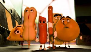 Talking comestibles (voiced by some of Hollywood's finest) are the stars in 'Sausage Party', an enjoyable spoof let down by a corny chase ending