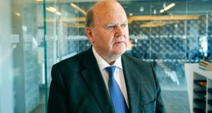 Minister for Finance Michael Noonan: Opposition TDs dispute his and the Department of Finance's view that the  billions in back taxes could not be spent on public services. Photograph: Aidan Crawley/Bloomberg