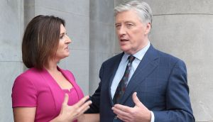 Pat Kenny and Colette Fitzpatrick, who will front a brand new current affairs show on Wednesday nights,  pictured at TV3's Autumn launch at the National Concert Hall, Dublin.