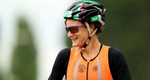 Sonia O'Sullivan during the Dublin City Triathlon at the weekend: the run was too much.  Photograph: James Crombie/INPHO