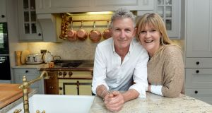 Kevin and Muriel Thornton at home in Ranelagh, Co Dublin. The couple plan to offer cooking masterclasses and high-end catering services for weddings and the corporate sector. Photograph: Eric Luke/The Irish Times