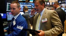 Traders  on the floor of the New York Stock Exchange on Wednesday. The S&P 500 index experienced its biggest decline in four weeks. Photograph: Brendan McDermid/Reuters