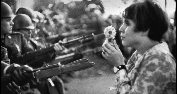 Marc riboud wandered world capturing life on camera marc ribouds famous photograph of jan rose kasmir during the 1967 march on the pentagon fandeluxe Images
