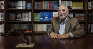 Joseph Stiglitz, a professor at Columbia University, argues that the single currency was a mistake in his new book, The Euro and Its Threat to the Future of Europe. Photograph: Sasha Maslov/New York Times