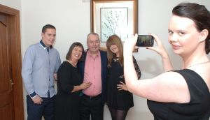 Holiday snap: Katie Harrington with her family at Christmas