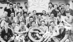 TheAll-Ireland winning Tipperary hurling team on board the SS Bremen on their way to America for a 1926 US Tour.