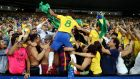 Brazil's Rafinha celebrates beating Germany in Rio: Pat Hickey had wanted tickets for that final. File photograph: Getty Images