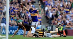 John McGrath scored Tipperary's second goal in their All-Ireland final victory over Kilkenny at Croke Park. Photograph: Inpho
