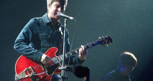 Noel Gallagher fronting High-Flying Birds on the main stage on Saturday night. Photograph: Dave Meehan