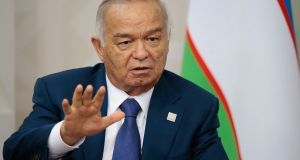 Uzbekistan's former president Islam Karimov. Whoever takes his place will be less skilled and experienced but is unlikely to be less ruthless. File photograph: AP Photo/Ivan Sekretarev
