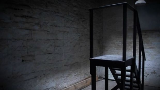 The hanging room in Mountjoy prison, where the last woman to be hanged in Ireland, Annie Daly, was executed. Photograph: Bryan O'Brien/The Irish Times