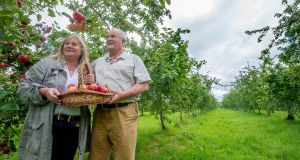 Rod and Julie Calder-Potts of High Bank Orchard, Cuffesgrange, Co Kilkenny. Photograph: Brenda Fitzsimons