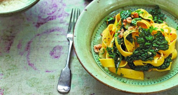 Perfect pasta made perfectly simple diana henrys pappardelle with cavolo nero chilli and hazelnuts from her 10th cookbook forumfinder Image collections