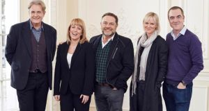 Cold Feet cast members (from left) Robert Bathurst, Fay Ripley, John Thomson, Hermione Norris and James Nesbitt. The  comedy ran for five series between 1997 and 2003 and is now is back on TV