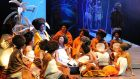 A scene from 'Mandela Trilogy', a musical by Cape Town Opera with the Cape Town Philharmonic Orchestra