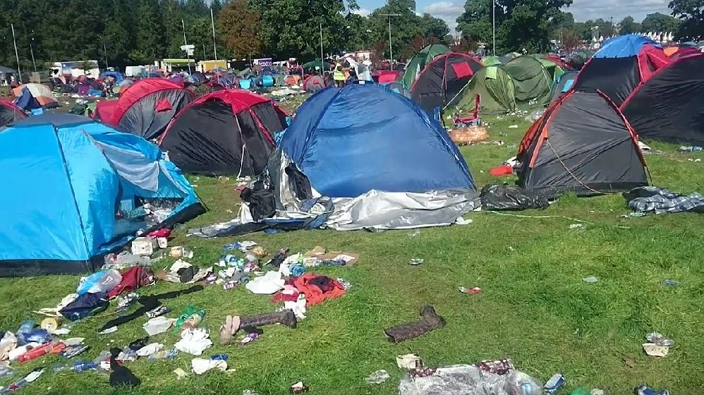 & Charity finds most tents left at Electric Picnic unusable