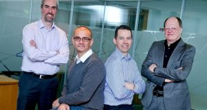 Chief operating officer Sean Mitchell, chief executive Remi El-Ouzanne, chief finance officer John Bourke and chief technology officer David Moloney of Movidius