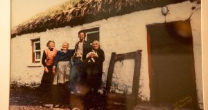 Bob Cohan with his aunts outside their cottage in 1977.  Photo: Bob Cohan
