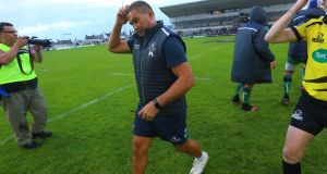 Pat Lam has conceded his Connacht side were short on match fitness ahead of their opening day defeat to Glasgow. Photograph: Inpho