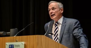Minister for Education Richard Bruton at Trinity College Dublin: he is under pressure to act, and five international models have been cited as potential options for how to move forward. Photograph:  Seb Daly/Sportsfile