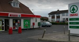 The Spar supermarket on Old Cratloe Road, Caherdavin, Limerick where the delicatessen and food preparation area has been served with a closure order.  Photograph: Google Street view