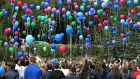 A group campaigning to have mass balloon releases banned has welcomed the decision by the Cork Autism Society to cancel a balloon release planned for this Sunday. File photograph: Joe O'Shaughnessy
