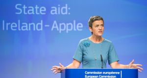 Danish EU commissioner  Margrethe Vestager: cynical observers could be forgiven for detecting a hint of schadenfreude behind the Apple decision. Photograph: Stephanie Lecocq/ EPA