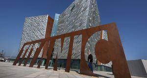 Titanic Belfast: The attraction, implausibly named this week as the best in Europe, sits in a semi-abandoned shipyard, which in turn sits within the huge Harbour Estate. (Photo by Peter Macdiarmid/Getty Images)