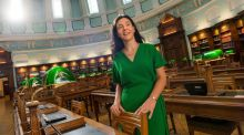 "Director of the National Library of Ireland Sandra Collins: ""With physical artefacts, it invokes the physical, emotional and spiritual in a way that digital can never do."" Photograph: Dara Mac Dónaill/The Irish Times"
