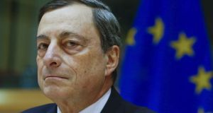 European Central Bank president Mario Draghi: the ECB is expected to leave rates unchanged when its governing council meets but could use the opportunity to extend its bond-buying scheme.  Photograph: Reuters