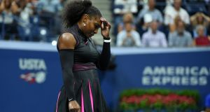 Serena Williams crashed out of the US Open, her semi-final defeat to Karolina Pliskova costing her a shot at a 23rd Grand Slam title and a record 187th straight week at number one. Photo: Timothy A. Clary/Getty Images