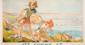 "A travel poster, ""It's sunny at Howth"", published by the Great Northern Railway Company in 1931 (€800-€1,200)"