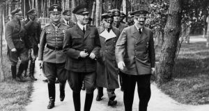 Balkan days: Ante Pavelic, Croatia's head of state and leader of the fascist Ustashe militia, with Adolf Hitler in 1942. Photograph: Heinrich Hoffmann/Ullstein Bild via Getty