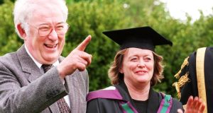 Marie Heaney: at UCD in 1998 after receiving her master of philosophy degree.  Photograph: Eric Luke