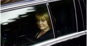 Seamus Heaney's funeral: Marie Heaney leaving her husband's requiem Mass. Photograph: Bryan O'Brien