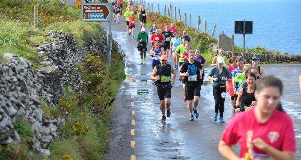 Runners taking part in the Dingle Marathon earlier this month. Photograph: Domnick Walsh