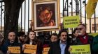 People  rally outside  the Egyptian embassy in Rome in February seeking answers on  the death of Giulio Regeni, a young Italian researcher killed in  mysterious circumstances in Egypt a few weeks earlier. File photograph: Getty Images