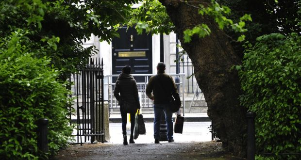 A file image of an entrance to St Stephen's Green Park in Dublin. The Office of Public Works says enough rubbish to fill more than 20 household wheelie bins is removed from the park every morning amid criticism of alleged drug use in the city centre space. Photograph: Aidan Crawley.
