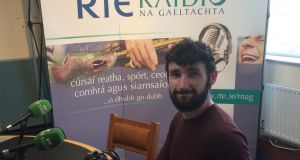 Cormac Ó Bruic, photographed at RTÉ Radio na Gaeltachta's Baile na nGall studio on Thursday. Photograph: RnaG