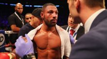Kell Brook is to undergo surgery on a broken eye socket after his defeat to Gennady Golovkin. Photograph: Getty