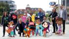 Animation Ireland members with some of their cartoon creations.