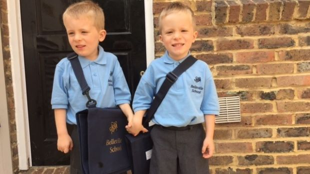Darragh and Lorcan Doyle started school in London last week.