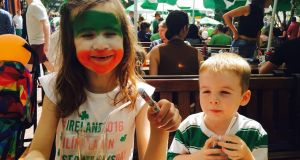 Emer O'Doherty' s children Abbie (7) and Elijah (4) Hurley attend school in Dubai.