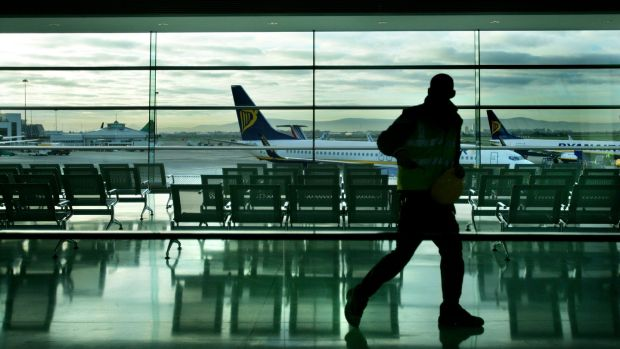 Dublin Airport handled 2.92 million passengers in July, 9.3 per cent more than during the same month last year. Photograph: Kate Geraghty