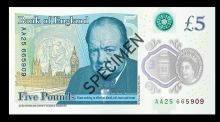 The Bank of England officially launched its first polymer note – a £5 featuring Sir Winston Churchill – on Tuesday.