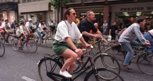 "Organisers of Cycle to Work Day said it expected ""first timers to cycling enthusiasts"" to get involved in the plan, which saw tens of thousands of employees in the UK and Ireland pledge to pedal a quarter of a million miles last year. File photograph: Alan Betson/The Irish Times"